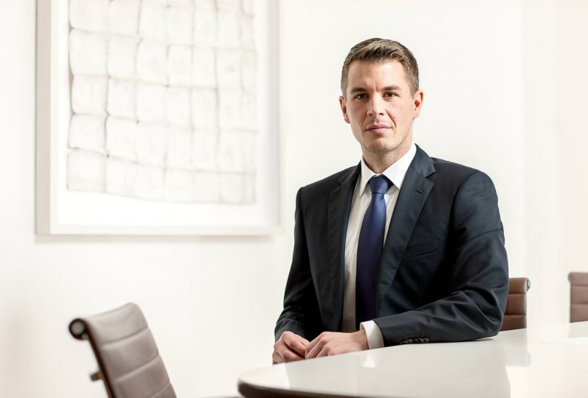 Solicitor Daniel in his office in central London.